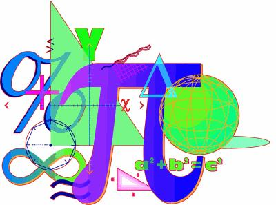 Collage of mathematical symbols and fomulas